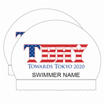 2x TBAY Olympic Towards Tokyo Personalized White Silicone Caps