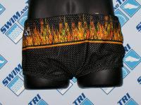 Flames Mesh Drag Suit