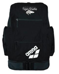 DeKalb Aquatics Team Arena Large Spiky Backpack w/logo (Black)