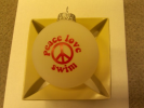 """Peace Love Swim"" Christmas Ornament"