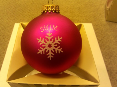 Swim Above Snowflake Christmas Ornament