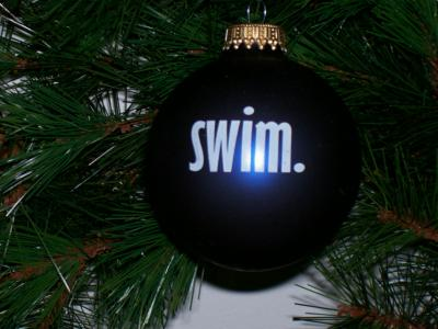 &quot;Swim&quot; Christmas Ornament