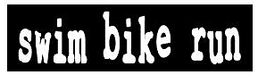 Swim Bike Run Bumpersticker