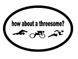 How About A Threesome? Decal