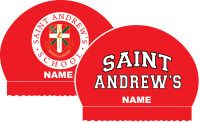 2x Saint Andrews Varsity Personalized Silicone Caps