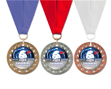 Custom Team Medals with Neck Ribbon