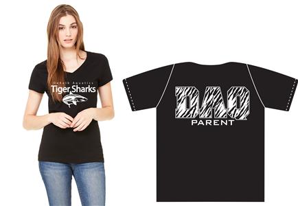 DAQ Parent Shirt, Ladies V-Neck, Black