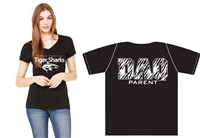 DAQ Parent Shirt, Ladies V-Neck, Black