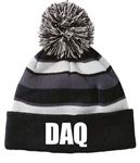 DAQ Pom Beanie w/Logo