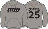 "DeKalb Aquatics ""25 Year"" Gray Hoodie w/ Logo"