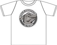 "Extra DeKalb Aquatics ""25 Year"" White Tee w/ Logo"
