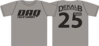 "Extra DeKalb Aquatics ""25 Years"" Gray Tee w/ Logo"