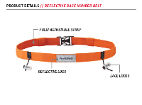 Reflective Race Number Belt