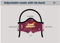 H2Okie Maroon Custom Tie-Back Mask