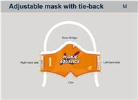 H2Okie Orange Custom Tie-Back Mask