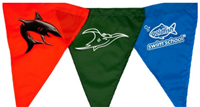 Nylon Fabric Backstroke Flags (12 by 18 inches)