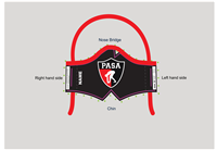 PASA Custom Tie-Back Face Mask