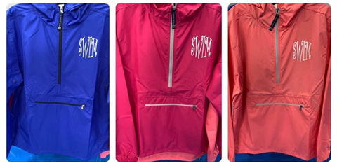 "Pack and Go Pullover with ""SWIM"" Logo"