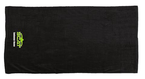 SCAT Black Beach Towel w/Logo