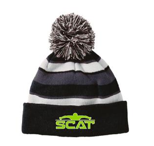 SCAT Pom Beanie w/Logo