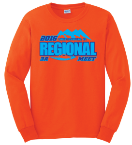 2016 3A Regional Meet Long Sleeved Shirt