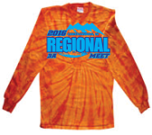 2016 3A Regional Meet - Tie Dye Long-sleeved T