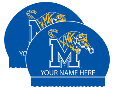 2x Personalized Silicone Memphis Tiger Caps