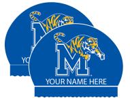 2x Personalized Silicone Memphis Tiger Caps