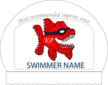 2x Kingsport Piranhas Personalized White Silicone Caps