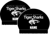 2x Silicone DeKalb State Team Caps (Black)