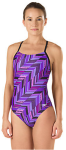 Swim and Tri female team suit -- angles blue