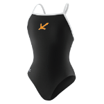 H2Okies Female Team Suit -- Speedo poly flyback black/white