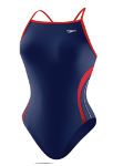 HYCAT Charleston Female Team Suit: Speedo Rapid Splice Energy Back Navy/Red