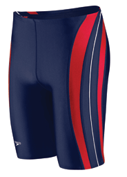 HYCAT Huntington Male Team Jammer: Speedo Rapid Splice Jammer Navy/Red