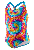 Kaleidoscope Tie Dye Scrunchy Back