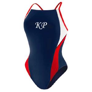 Kingsport Pirahnas: Speedo Launch Splice - Navy/Red/White (w/Logo)