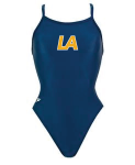Lanier Aquatics Female Suit -- Lycra navy with logo
