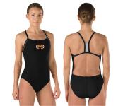 Machine Aquatics Skimpy Thin Strap Training Suit w/Logo