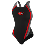 Signal Mountain Female Team Suit Quark Splice W/Logo (Black/Red)