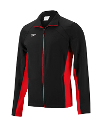 Signal Mountain Male Team Warmup Jacket - Speedo Boom Force - Black/Red