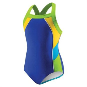 Speedo Colorblock Splice 1-Piece Girls