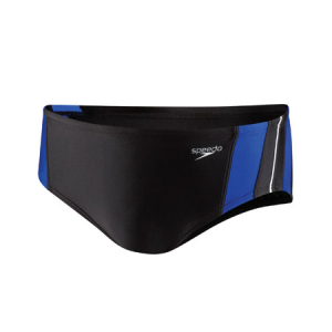 Vance Middle School Male Team Suit: Speedo Rapid Splice Brief- Black/Blue Logo