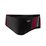 Tennessee High School Male Team Suit: Speedo Rapid Splice Brief - Maroon LOGO