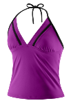 Speedo Solid Halter Tankini
