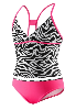 Zebra Tankini Surplice X-Back 2-PC