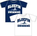 One Navy, One White Carrollton Bluefins Shirts