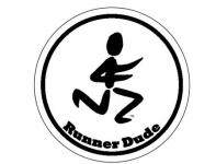 Runner Dude Sticker