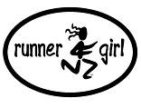 Runner Girl Decal