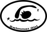 Swimmer Girl Decal