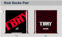 TBAY Custom Kick Socks Pair